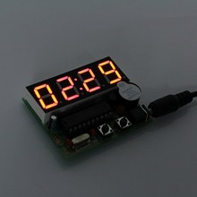 C51 Electronic Clock 4 Bits Clock Kit Electronic Production Suite DIY Kits LED Display Suite Electronic Module(China)