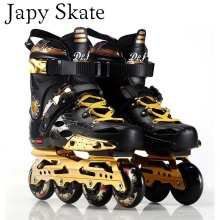 Japy Skate T5S Inline Skates Professional Slalom Adult Roller Skating Shoes Sliding Free Skating Good As SEBA Patines 85A Wheel(China)