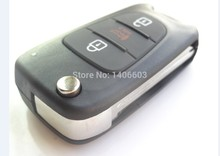 New Replacement Folding Remote Key Shell for Kia SOUL Case Fob 3 Button Uncut Blade