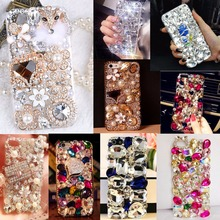 Soft Edge Acrylic mobile phone shell Bling Diamond Luxury Glitter Case For galaxy J3 Emerge/J3 Prime/J3 2017(US Version)