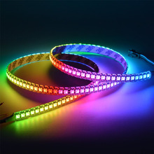 3.2FT 1M 144Pixels/m Programmable LED Strip Light WS2812B WS2811 Built-in 5050 RGB Individual Addressable Digital Dream Color Fl(China)