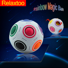 Creative Magic Rainbow Ball football Maze Fidget Spherical Attractive Toys for Kids Children Learning And Education Puzzle Gifts(China)
