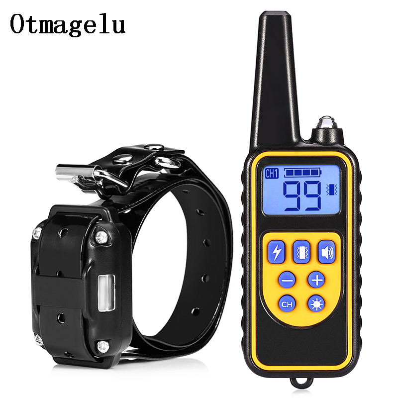880 Electric Dog Training Collars Waterproof Rechargeable Dog Collar With 800m Remote Control Receiver Pet Training Collars3