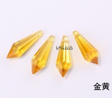 new style high quality free shipping 30pcs/lot topaz color 60mm  CRYSTAL CHANDELIER ICICLE SUNCATCHR