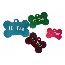 500pcs Aluminum Alloy Pet ID Tag Bone Shape Double Sided Custom Engraved Dog Cat Pet Name Phone Number ID Tag Charm ZA1554