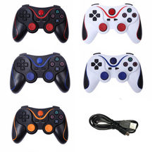Wireless Bluetooth Double Vibration Controller Remote Joystick for Sony Playstation 3 PS3 Console with USB Cabel
