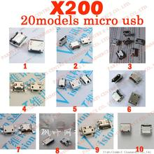 20 models 200pcs/lot micro usb connector widely use charging port for Lenovo ZTE huawei and other mobile tablet