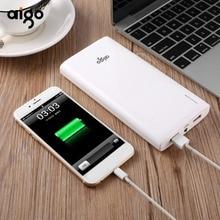 Aigo 20000mAh Power Bank 2.1A Fast Charging powerbank Dual USB Portable External Battery Micro USB &Lighting Input charge