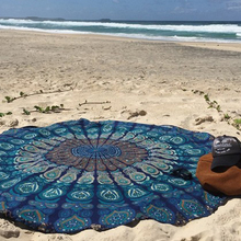 Changing color Summer  painting new beach towel print With Tassel Circle Beach Towel  fashion large Rectangle decorative  towel