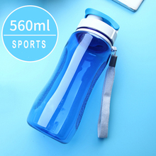 Premium Sports Water Bottle Leak-proof Plastic Bottle with Rope Drink Bottle for Outdoor Camping School Water Bottle for Kids(China)
