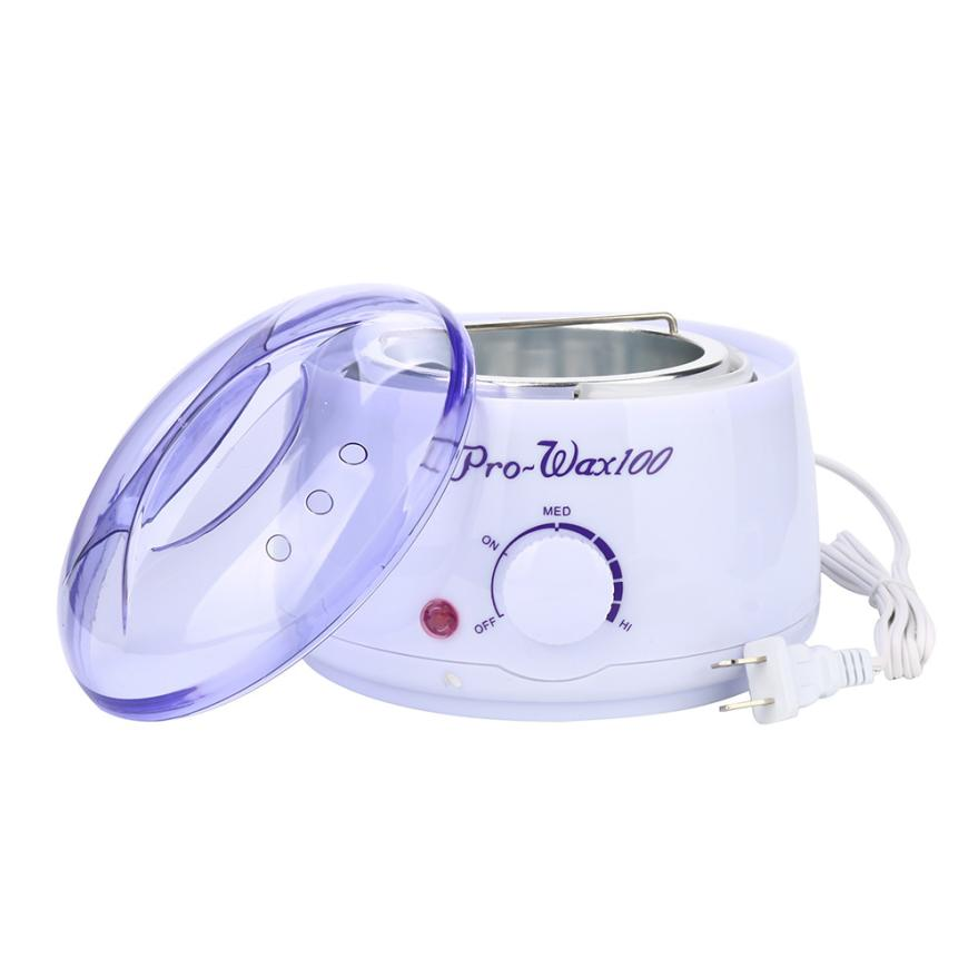 Top selling    Hair Removal Bean Wiping Sticks Hot Wax Warmer Heater Pot Depilatory Set 17a29<br>