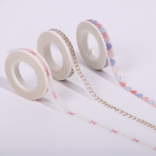 10PCS Small Fresh of Hand Painted Love Heart Parting Line Washi Paper Adhesive Tape Office Stationery Masking Tape