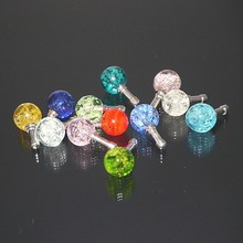Brighten Universal Colurful Round Rhinestone Luminous Dust Plug Mobile Phone Earphone Jack Anti Dust Plug Headphone Dust Cap