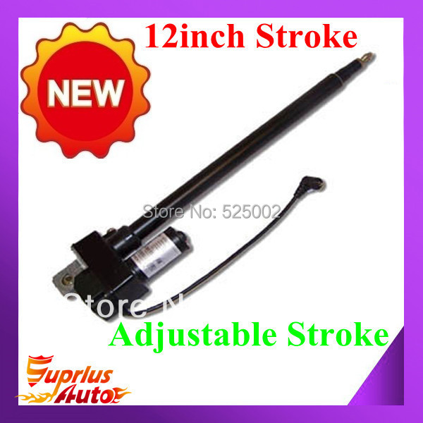 12/300mm Stroke Linear Actuator 225lbs Force Adjustable Stroke 12Volt DC actuator linear Built In limit switches<br><br>Aliexpress