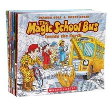 Picture book the magic school bus school bus child library children english book 6pcs per set