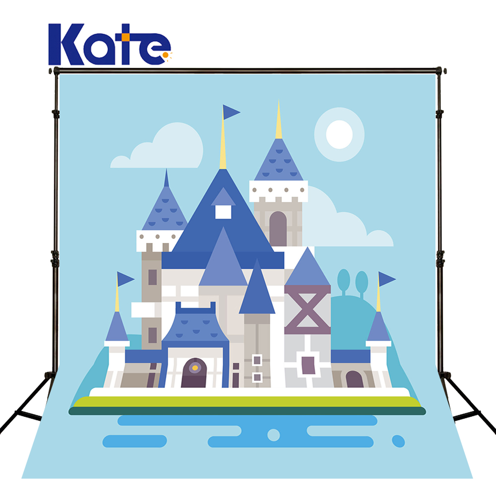 8X8ft Kate Newborn Backdrops Photography Background Castle  Cartoon Fairy Tale World Background for Children Photo Shoot<br>
