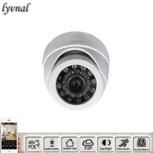 1080p ip camera dome 48v poe and audio Surveillance camera p2p onvif indoor use 720p Security camera cctv system