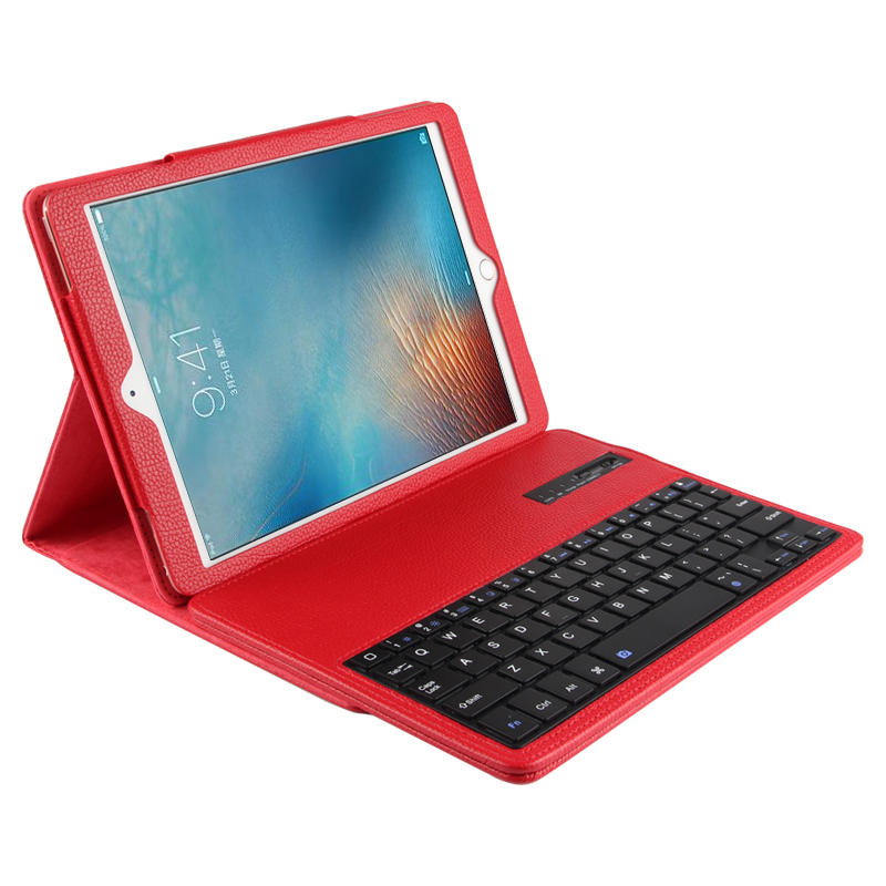 New 2017 Wireless Bluetooth Keyboard +PU Leather Cover Protective Case For iPad 5 / 6 / Air / Air 2 / Pro 9.7 Case + Film+Stylus<br>