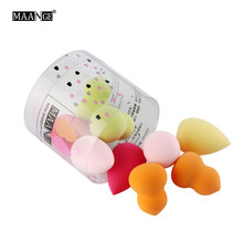 10Pcs Cosmetic Puff Makeup Foundation Sponge Flawless Powder Smooth Beauty Cosmetic Blender Make Up Sponge Beauty Tool With Box(China)