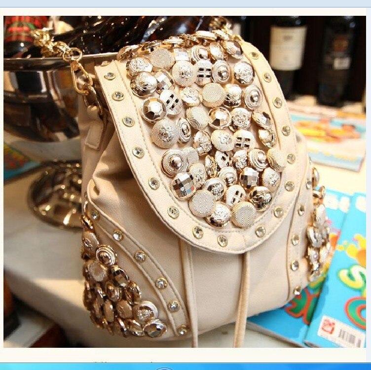 2017 Fashion Women Shoulder Bags Famous Brand Bucket Bag Multifunction Drawstring Backpack Rivet Rucksack Mochila Feminina A0257<br><br>Aliexpress