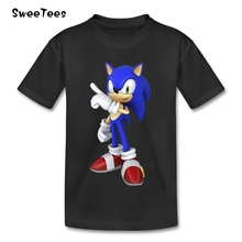 Sonic The Hedgehog Boy Girl T Shirt Short Sleeve Pure Cotton Baby O Neck Tshirt children's Clothes 2017 Kid T-shirt For Toddler