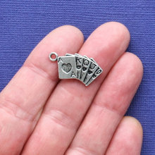 10pcs/lot Card Charms Antique Silver Tone Ace King for diy charms jewelry accessories pendant necklace findings making