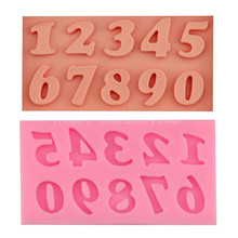0~9 Figure Number Lace Silicone Fondant Soap 3D Cake Mold Cupcake Jelly Candy Chocolate Decoration Baking Tool Moulds FQ1926