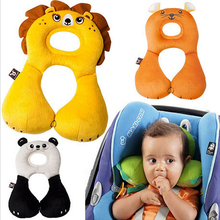 Quality Cartoon 1- 4 Years Baby Shaping Pillow Headrest Neck Protection Pillow Infants U-shaped Animal Designs ANHZ0012