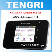 "European version Unlocked 2.4""touchscreen Netgear Aircard AC810S 810S 2.4G/5 GHZ 600Mbps 4G LTE MiFi Mobile Hotspot wifi Router(China)"