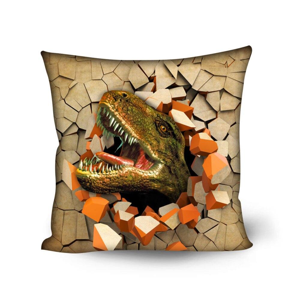 Crazy Dinosaur Throw Pillow Case