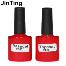 Top it off Coat  / Base gel Foundation Kit JingTing for UV Gel  Nail Polish Gorgeous Colors Best 10ml