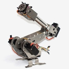 New Arrival DIY 6DOF Aluminum Robot Arm 6 Axis Rotating Mechanical Robot Arm Kit(China)
