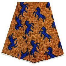Blue Horse African Fabric Ankara Material African Wax Fabric 2017 For Ankara Dress Lace Material Super Wax Fabric for Dress