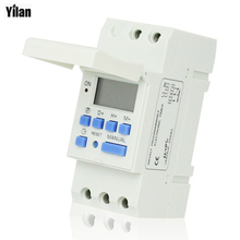 DIN RAIL DIGITAL PROGRAMMABLE TIMER SWITCH 220VAC 16A