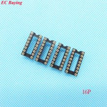 30pcs Round Hole 16 Pin 2.54MM DIP IC Socket Adaptor Solder Type IC Connector (If you need other quantity, please contact us )