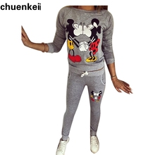 2017 хит-хоп Капот Печатные hodie женщины костюмы Kawayi минни маус с капюшоном survetement Femme толстовки tumblr(China)
