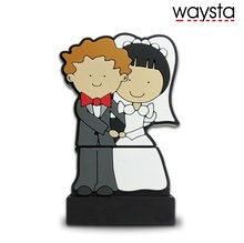 Waysta Wedding gift Pendrive 64GB Pen Drives 4gb 8gb 16gb flash memory stick Couples bride USB Flash Drive 32gb(China)