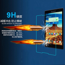 9H Tempered Glass Screen Protector Film for Lenovo Tab S8-50 + Alcohol Cloth + Dust Absorber(China)