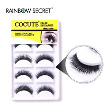 New 5 Pairs Natural Long Eye Lashes Makeup Handmade Black Thick Fake Cross False Eyelashes make up Extension Beauty Tools
