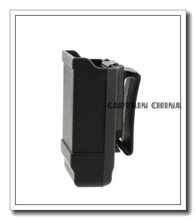 Black Single Stack Mag Carrier Carbon Fiber Magazine Pouch for 9mm to .45 caliber for glock beretta(China)