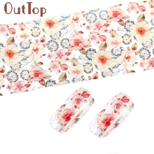 Nail Sticker 4*100cm Flower Design Sticker Decal For Polish Care DIY Universe Nail Art Beauty Decoration Styling Tools(China)