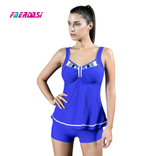 Faerdasi Two Piece Swimsuit for Women Navy blue Swimsuit Sapphire Bathing suit Women Dress Swimwear Patchowrk Monokini Beachwear