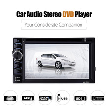 362 Car Audio Stereo Dvd Player ,2 Din 6.2 Inch Touch Screen Car Video Mp3 CD Player With Bluetooth