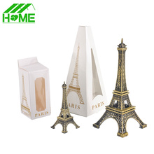 Paris Eiffel Tower Model Bronze Tone Decorative Furnishing Articles Decoration Vintage Craft Mold Figurine Statue Home Decor(China)
