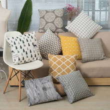 Simple Art Chair Pillowcase Skill Cushion 2017 New Arrival Hotel Linings Bedclothes Relax Houseware Lattice Stripe Pattern(China)