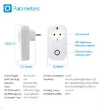 AC 220V EU Plug Smart WiFi Remote Control Timer Switch Power Socket Outlet for Cellphone Android IOS
