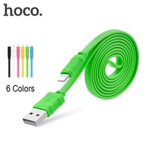 HOCO 5V 1 m Charging Data USB Otg Cable For iPhone Lightning Pink Yellow Green Blue White Black Charge Cable For Apple