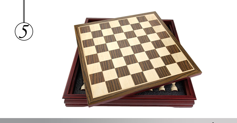 Easytoday Wooden Chess Game Set Wood Chess Pieces Short Tea Style Puzzle Chessboard Table Games High-quality (5)