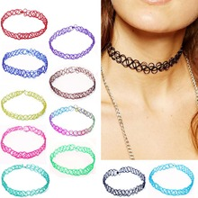 New Collares Vintage Stretch Tattoo Choker Necklaces For Women Girls Charm Punk Retro Gothic Elastic Pendants Necklace