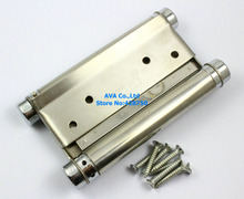 "2 Pieces 5"" Double Action Spring Hinge Saloon Cafe Door Hinge Swing Western Door"